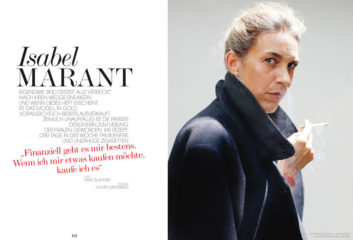LUNDLUND : Interview Germany - Isabel Marant