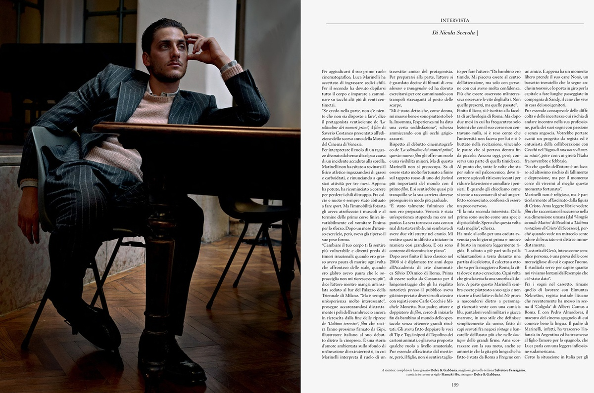 LUNDLUND : L'Officiel - Luca Marinelli